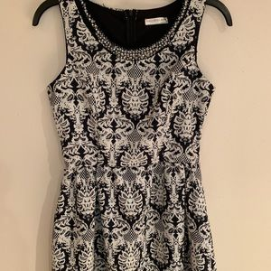 A'GACI Black & White Beautiful Dress